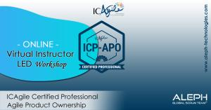 ICAgile Certified Professional - Agile Product Ownership | Virtual Instructor Led workshop | ALEPH-