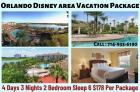 Orlando Disney area vacation package 4 days 3 nights
