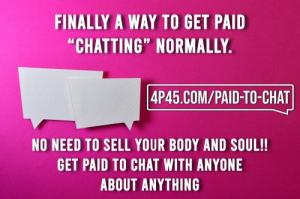We offer a program where people Get PAID to Chat! Do you realize what a great business opportunity t