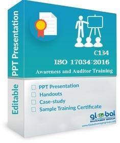 Online ISO 17034 Internal Auditor Training PPT Kit